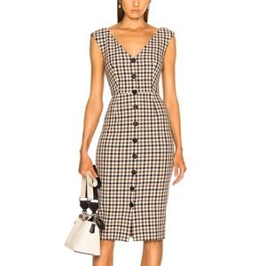 NWT Veronica Beard Lark Check Plaid Midi Dress